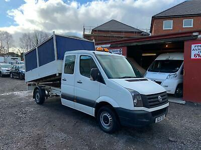 2012 (12) VOLKSWAGEN CRAFTER CR35 2.0TDi (136) CREW CAB CAGED TIPPER + TONNEAU