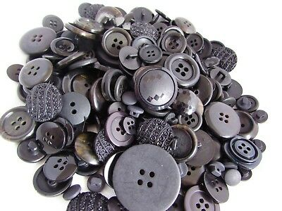 Assorted Sizes and Shades of Black Buttons in Asst Packs of 10, 20, 50 & 100