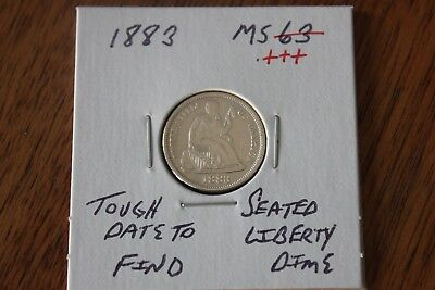 1883   Tough Date To Find   Unc+++  Seated Liberty Dime