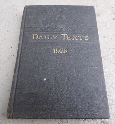 Daily Texts 1928 MORAVIAN Church Bethlehem Book Shop Daily Watch Words Antique