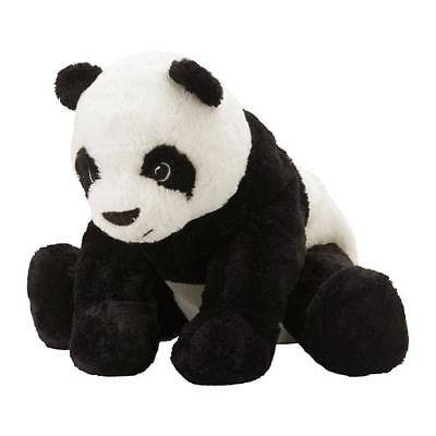 Ikea Kramig Panda Teddy Bear Stuffed Animal Plush Soft Toy Kids Baby White Black