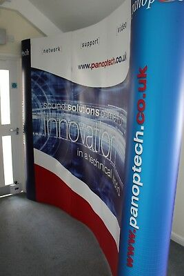 Nimlock 5-Panel Curved Compact Pop-Up Exhibition Stand for events and displays