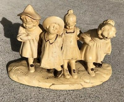 Antique Chalkware statue of the Dionne quintuplets Very Cool