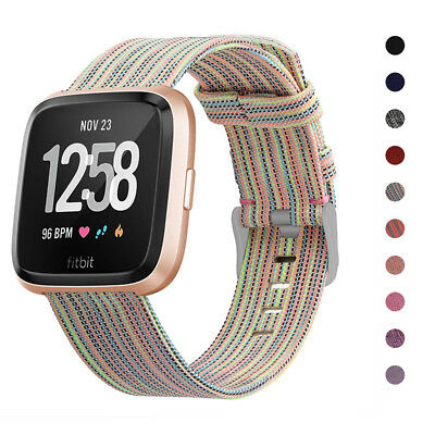 For Fitbit Versa Replacement Canvas Watch Band Bracelet Wrist Strap