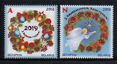BELARUS Christmas 2018 & New Year 2019 MNH set