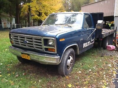 1985 Ford F-350  VINTAGE 1985 FORD F350 FLATBED STICK CONTROL WITH CRANE