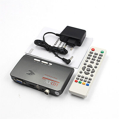 HDMI DVB-T T2 dvbt2 TV VGA Receiver Converter With USB Tuner Remote Control  rk6
