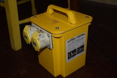 230-110V transformer 2 X output plugs Carroll and Meynell 1.5-3.0 kva cm300002