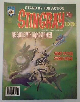 STINGRAY The comic no 9 1993   W A S P.