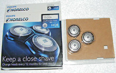 Philips Norelco Shaving Replacement heads DualPrecision HQ8/52 OPEN BOX 30F13