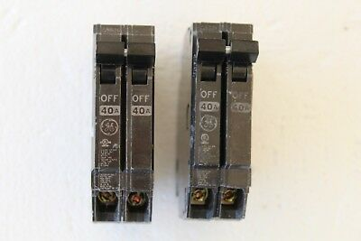 Lot Of 2 GE THQP240  Double Pole 40 Amp Circuit Breaker