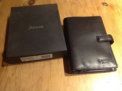 Brand New In Box Filofax Bromley Personal Organiser Black Deluxe Smooth Leather