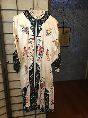 Beautiful Authentic Kimono, Made in Japan, Colorful Woven Embroidery, 54 inches