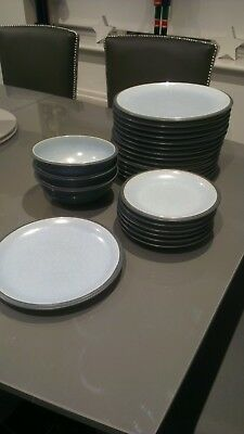 Denby Blue Jetty Plates Bowls - Selling Individually
