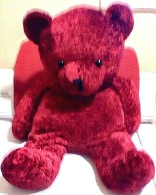American Made Big Red Teddy Bear 24 Inches Soft Made in the USA