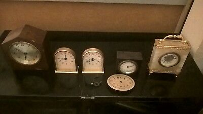 Small job lot of 6 vintage & modern clocks & parts - spares and repairs & A/F