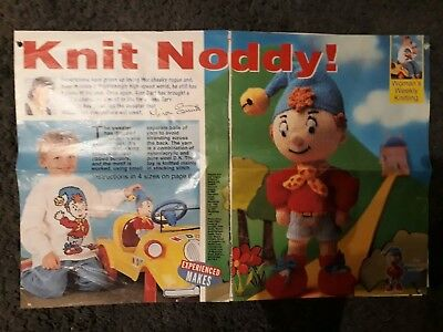 Alan Dart Knit Noddy Toy and Sweater knitting pattern