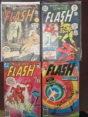 The Flash #208, 233, 283, 286 (Aug 1971, May 1975, March 1980, June 1980 DC)