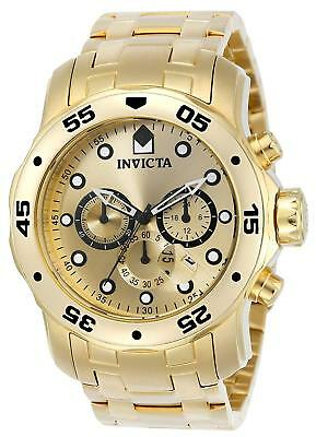 Invicta Men's 'Pro Diver' Quartz Stainless Steel and Gold Plated Diving