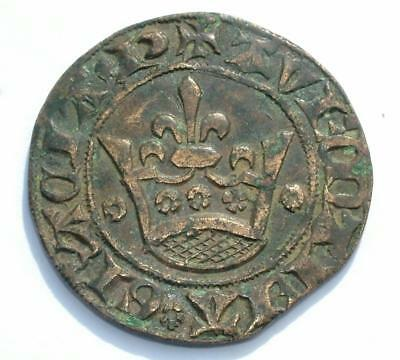 LOVELY 15th CENTURY FRENCH CROWN JETON TOKEN COIN - LOT 15