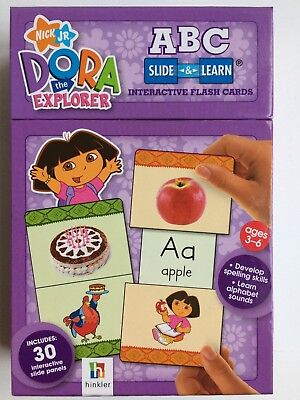 Dora the Explorer ABC Slide & Learn Interactive Flash Cards - Ages 3-6