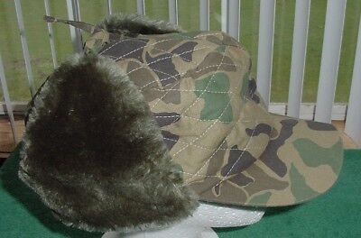 Vintage Youngan XL Camo Hat Ear Flaps 3M Thinsulate Hunting Cap Camouflage Rare