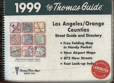Thomas Guide Los Angeles / Orange Counties 1999 Plastic LAMINATED Edition