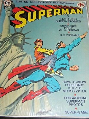 SUPERMAN LIMITED COLLECTORS' EDITION #C-38 1975 VG DC LARGE Comic Book