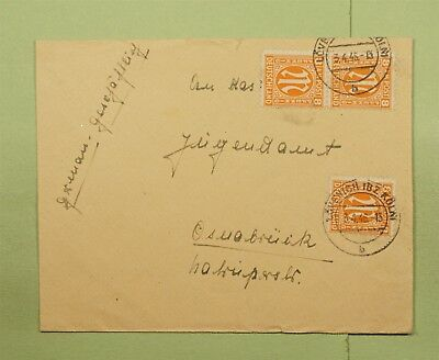 DR WHO 1946 GERMANY AMG MILITARY MAIL PAIR LOVENICH TO OSNABRUCK  d66399