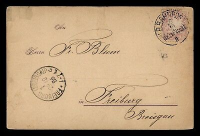 Dr Who 1886 Germany Bahnpost Postal Card C60369