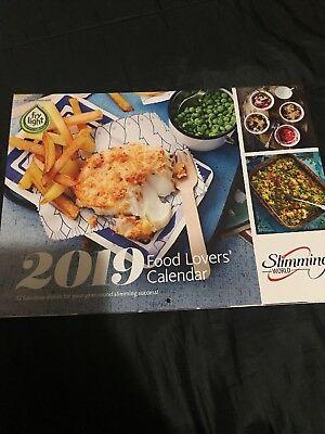 Slimming World 2019 Slimmers Wall Calender A4 - A3 When Open With Recipes