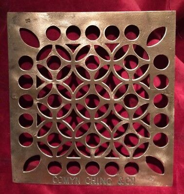 Comyn Ching & Co Brass Plate / Grille