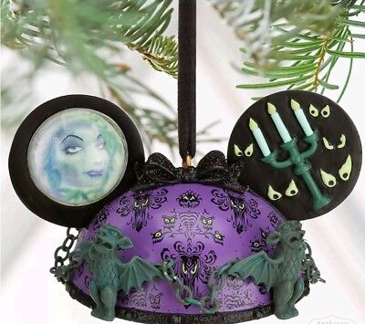 NEW Disney Parks The Haunted Mansion Ear Hat Christmas Holiday Ornament