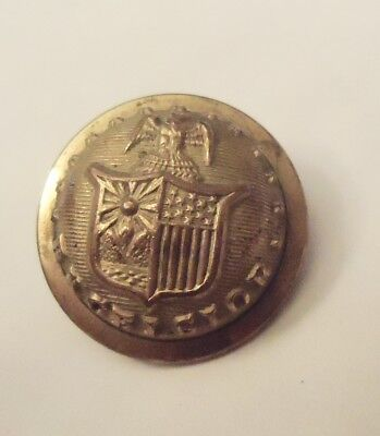 "Civil War N.y. State Militia Staff Excelsior Button 7/8"" Scovill"