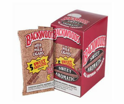 Backwoods Natural Leaf Sweet Aromatic Cigars ( Pack Of 5 ) Fast Free Shipping