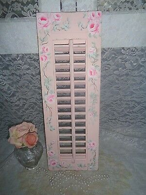 2-SIDED CHIC SHUTTER DECOR hp farmhouse vintage shabby hand painted