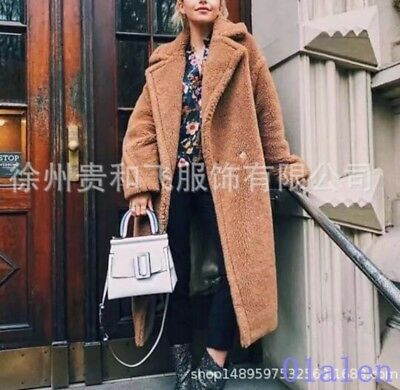 Occident Womens Lapel Faux Fur Hot Sale Long Style Overcoat Fahsion News Winter