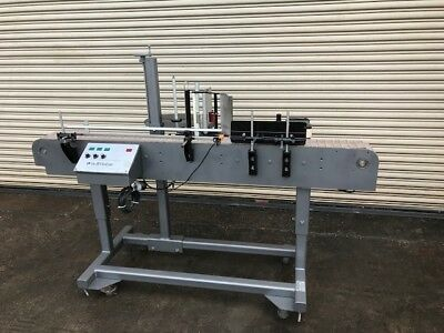 Auto Labe Inline Pressure Sensitive Bottle Labeler, Labeling Machinery