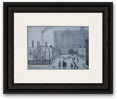 ORIGINAL Vintage Sketch Northern Industrial Art Signed and dated L S Lowry 1962
