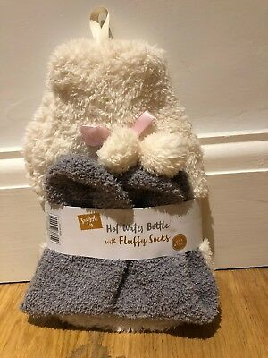 Small Hot Water Bottle And Fluffy Sock Set