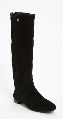$450 Tory Burch Irene Tall Black Suede Boots SZ 6 EXCELLENT CONDITION