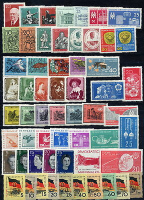 EAST GERMANY 1959 Complete year's issues MNH/**
