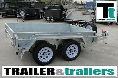 9x5 HEAVY DUTY TANDEM AXLE BOX TRAILER - GALVANISED - NEW WHEELS - NEW TYRES