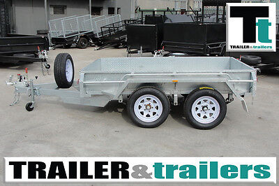 10x5 GALVANISED TANDEM BOX TRAILER - HEAVY DUTY -– SPARE WHEEL + JOCKEY WHEEL