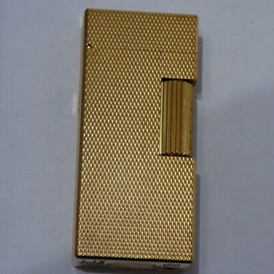 Dunhill 'Mini' Rollagas Lighter - Gold Plated - Full Barley Design