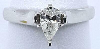 14K White Gold Lady's Diamond Solitaire Ring .46 CT.  2.2dwt (39511701)