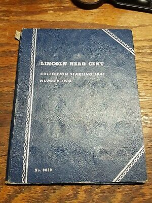 Complete Lincoln Wheat Penny Cent Collection Album 1941-1961 P D S Whitmans 9030