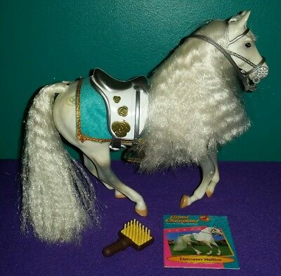 """USED Grand Champions Model Horse """"Lipizzaner Stallion"""" with Tack (Retired)"""
