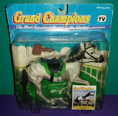"""NIB Grand Champions Model Horse """"Thoroughbred Stallion"""" with Tack (Retired)"""