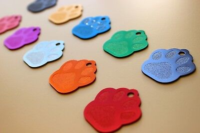 Pet Tags Paws Id Dog Tag Premium Fully Anodized 2-Side Diamond Engraved Petcharm